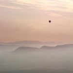 Balloon Floating over pamplona