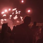 fireworks above ciudadela