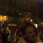 Kids enjoying san fermin