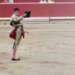Matador in pamplona bullfights