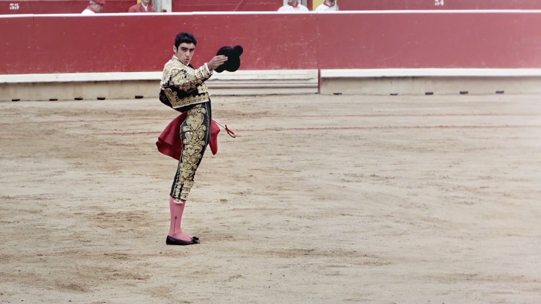 Matador in pamplona bullfights