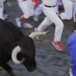 one-step-ahead-of-the-bull-in-pamplona