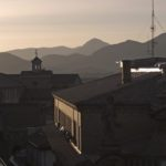 Pamplona City Hall at Sunset