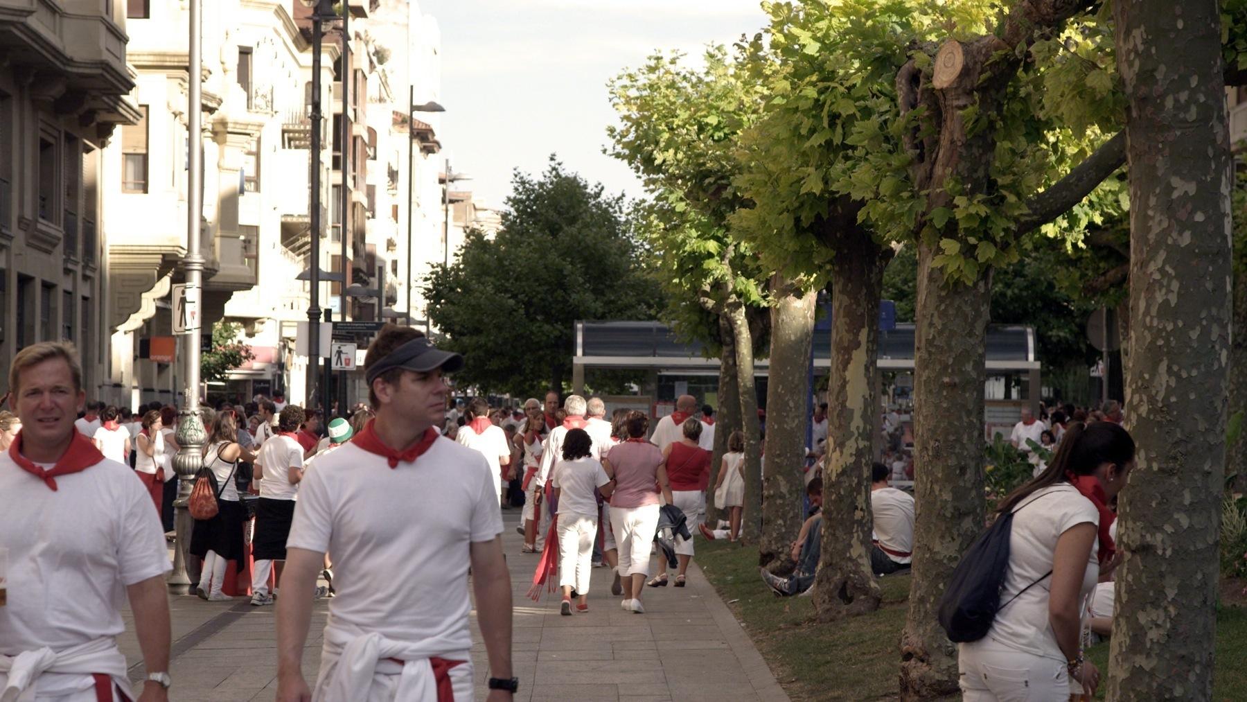 Walking streets during San Fermin