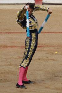 Juan José Padilla about to place the banderillas in Seville in 2009 - Foto Credit Alexander Fiske-Harrison