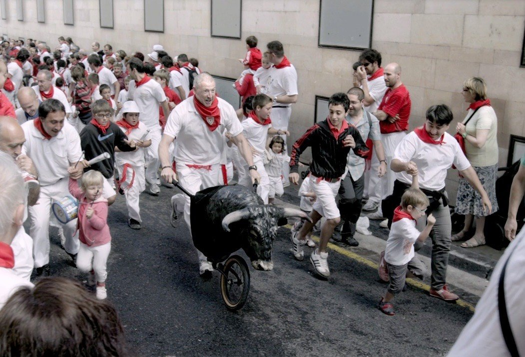 Running of the bulls with families