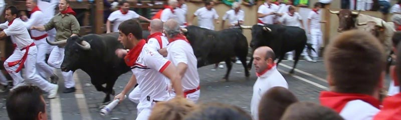 Running of the Bulls runner center