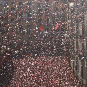 Opening Ceremony celebration for San Fermin in Pamplona Spain